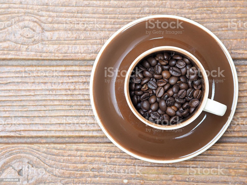 top view coffee bean stock photo