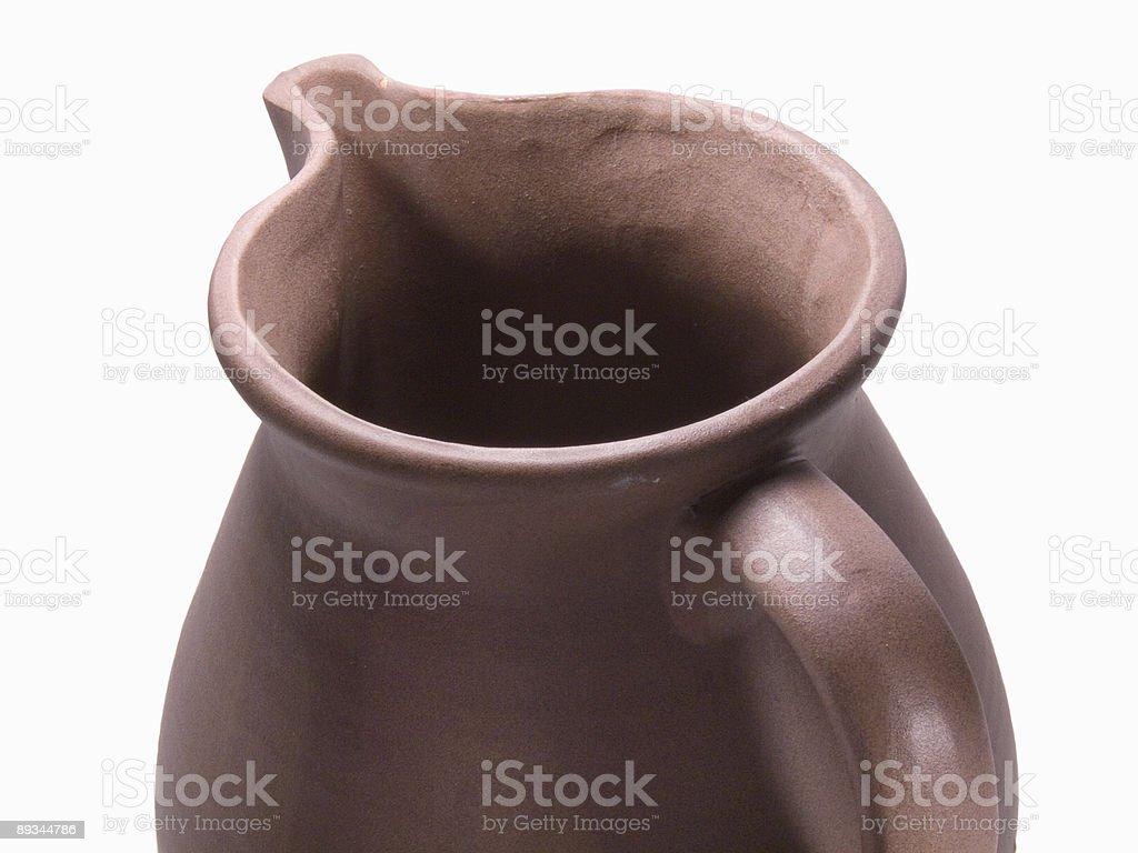 Vista superior detalhes de argila jarra foto royalty-free