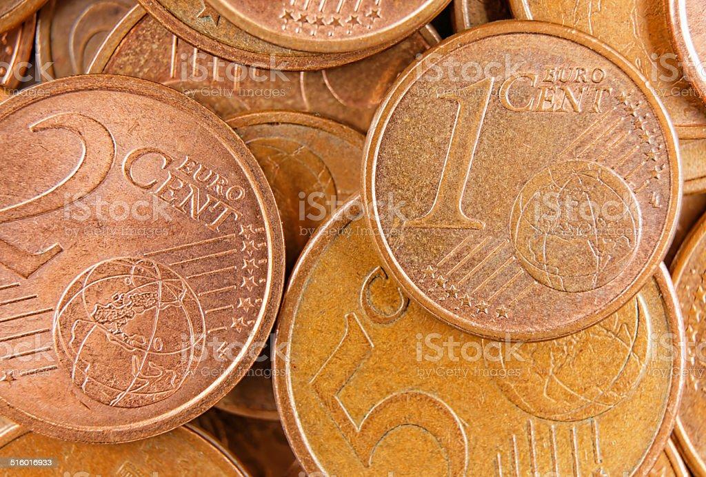 top view euro money stock photo