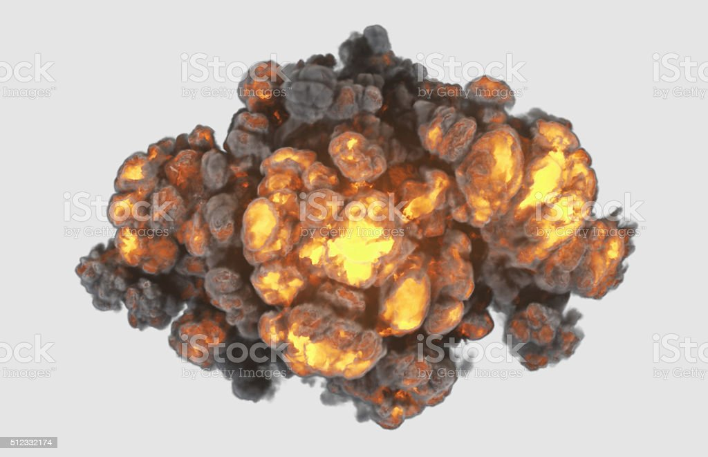 Top view explosion with cliping path stock photo