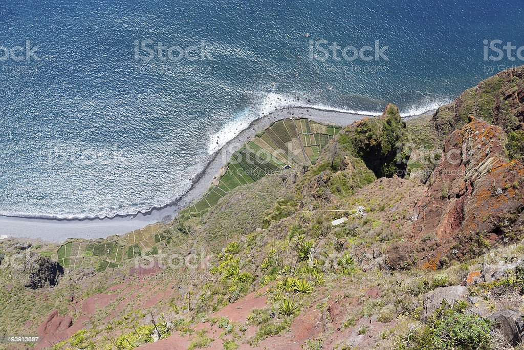Top view from Gabo Giraol at Madeira Island, Portugal stock photo