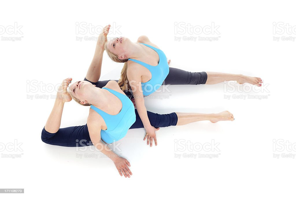top view girls gymnastic royalty-free stock photo