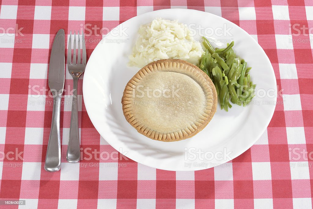 top view meat pie with vegetables royalty-free stock photo
