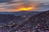 Top view monastery at Larung gar (Buddhist Academy)