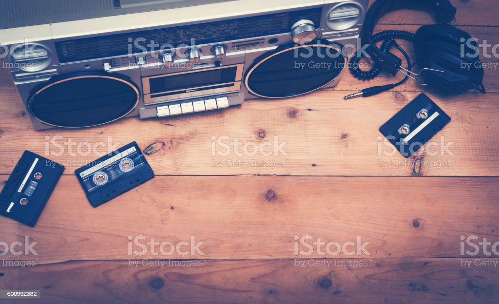 Top view music header stock photo