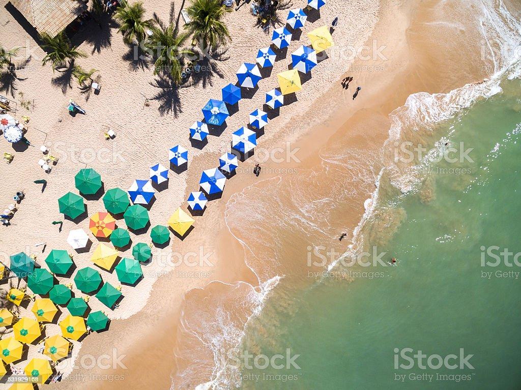 Top View of a Beach in Bahia, Brazil stock photo