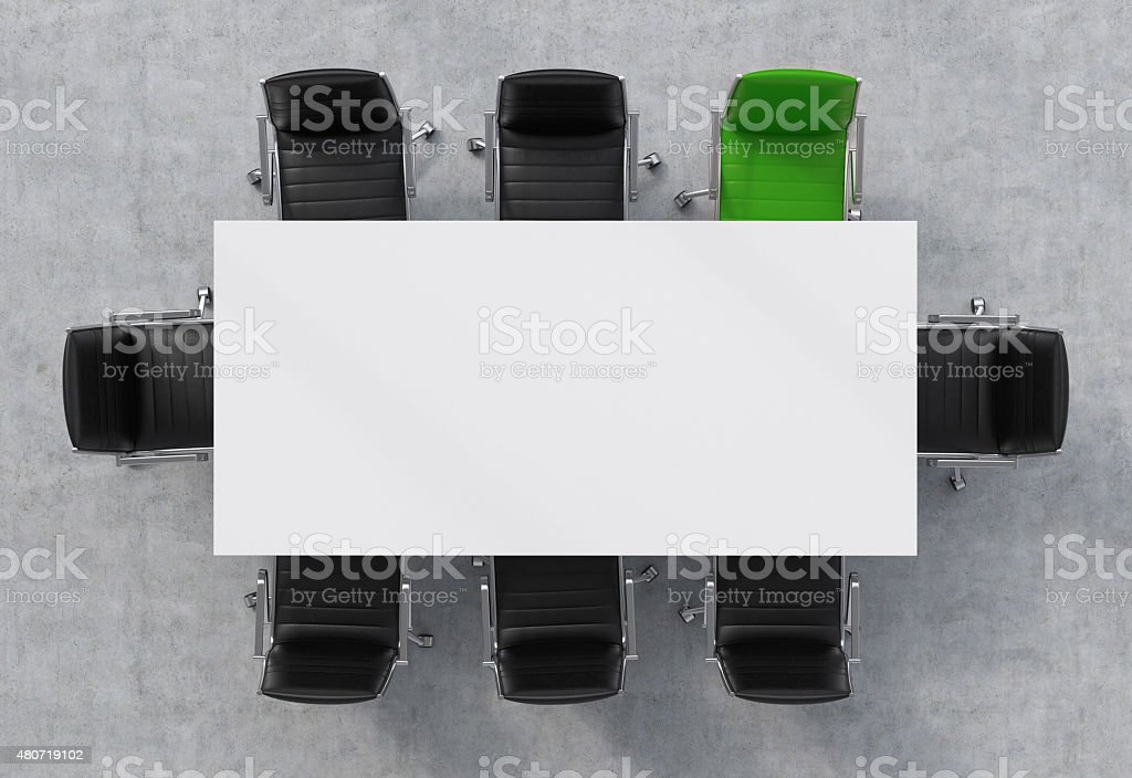 Top View of a conference room stock photo
