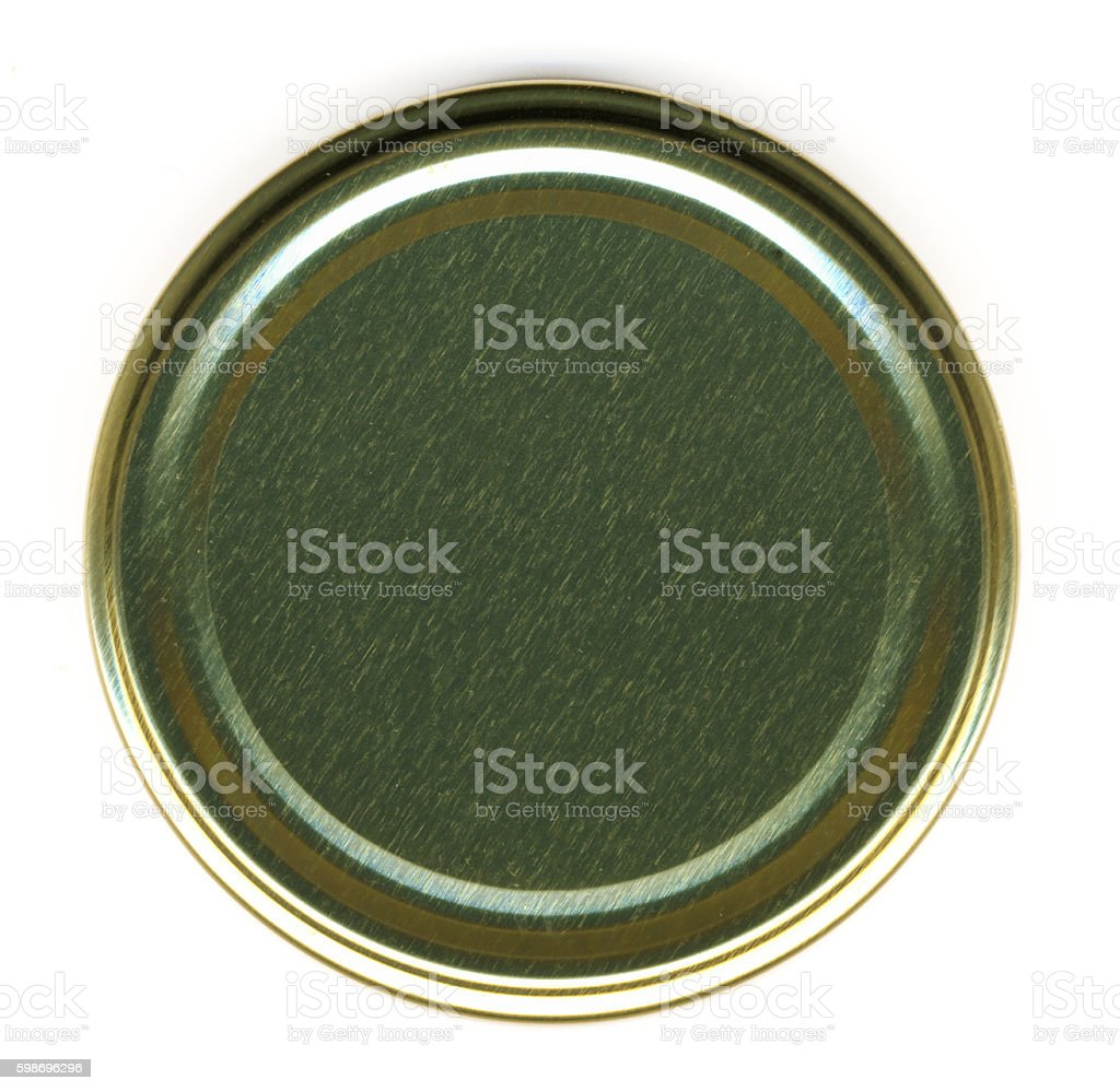 Top View of a Jar Lid stock photo