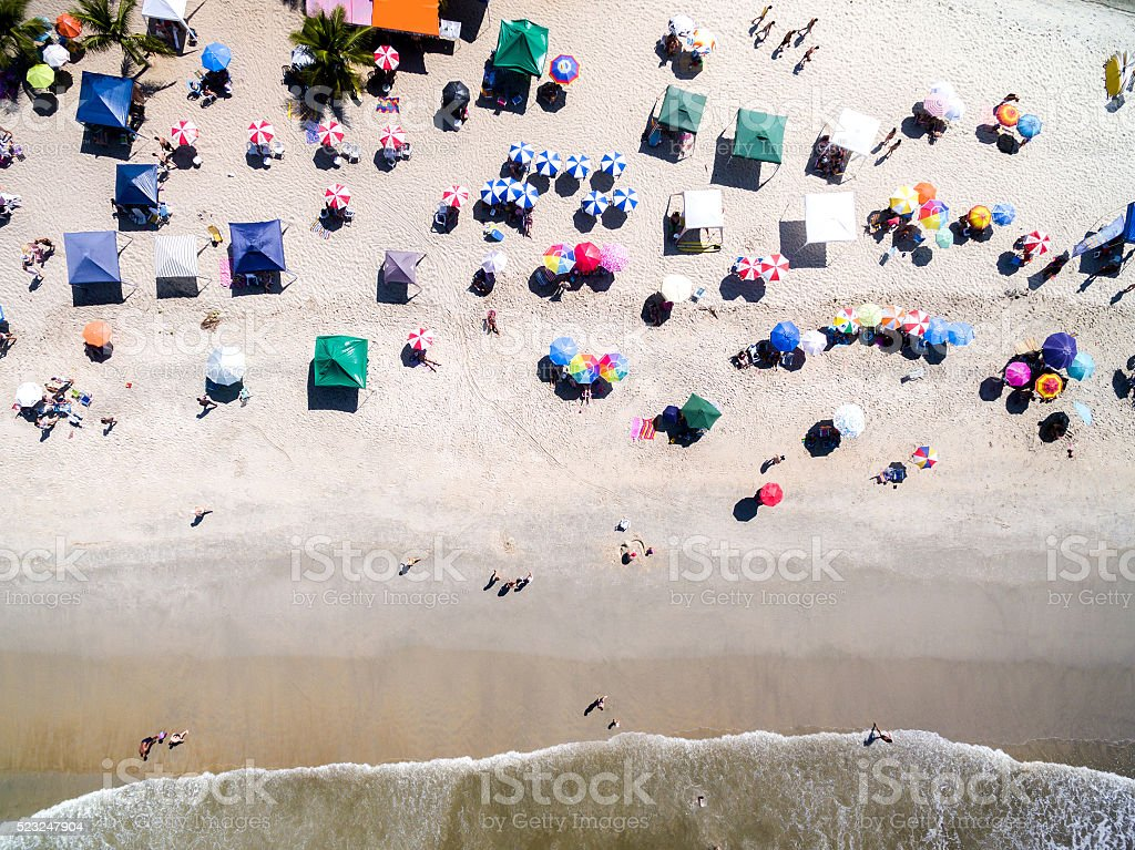 Top view of a Tropical Beach stock photo