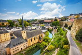Top view of Abbey de Neumunster in Luxembourg