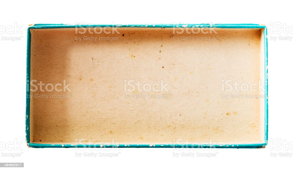 top view of an empty box royalty-free stock photo