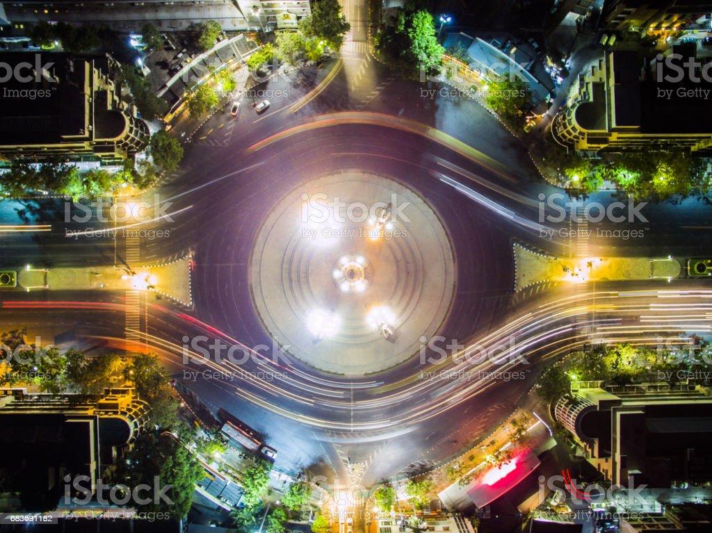 Top view of Bangkok's democracy monument. stock photo