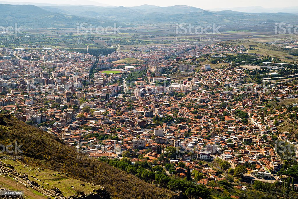 Top view of Bergama stock photo