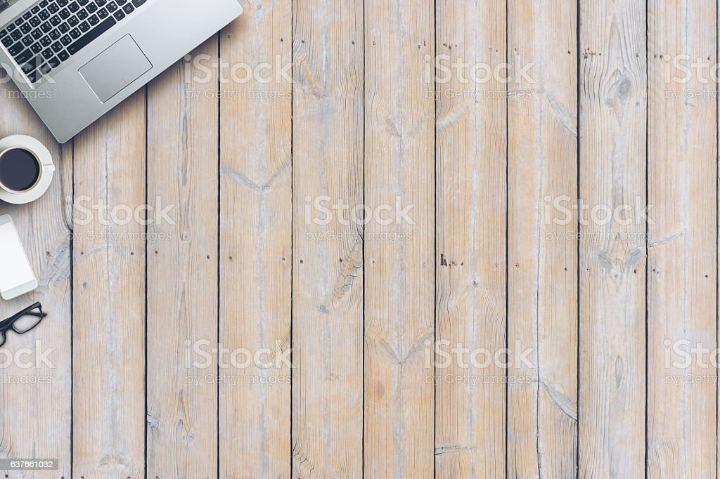 Top view of Business still life stock photo