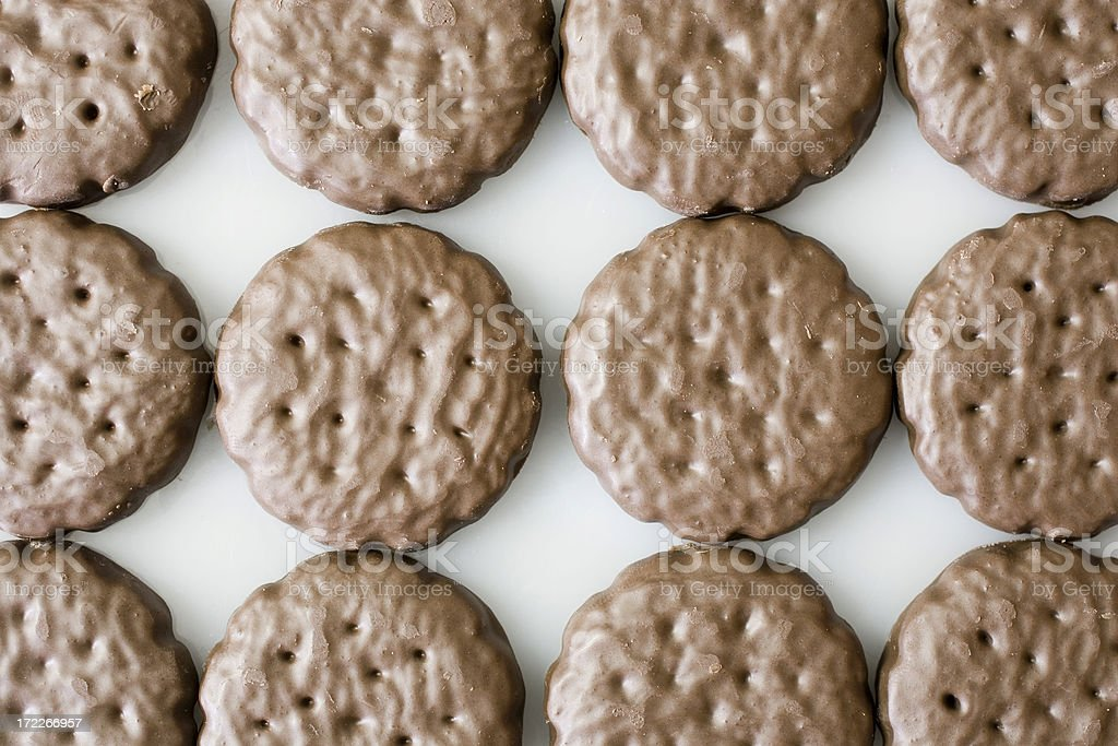 Top view of chocolate cookies stock photo