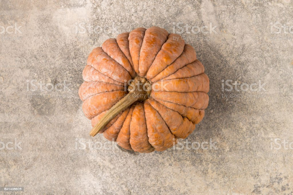 Top View of Cinderella Squash stock photo
