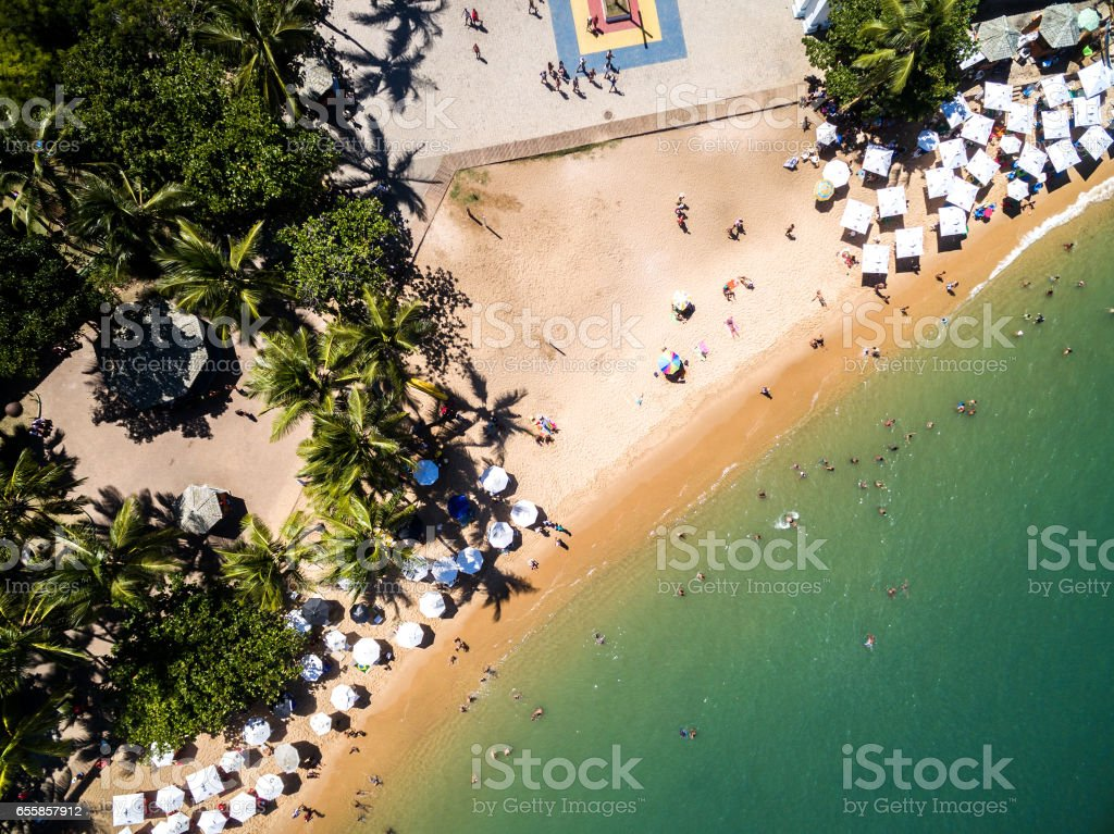 Top View of Forte Beach, Brazil stock photo