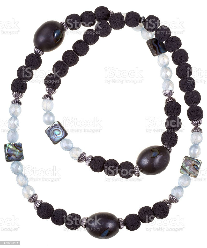 top view of handmade woman necklace royalty-free stock photo