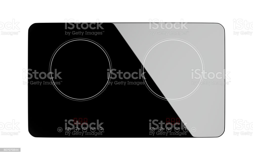 Top view of induction cooktop stock photo