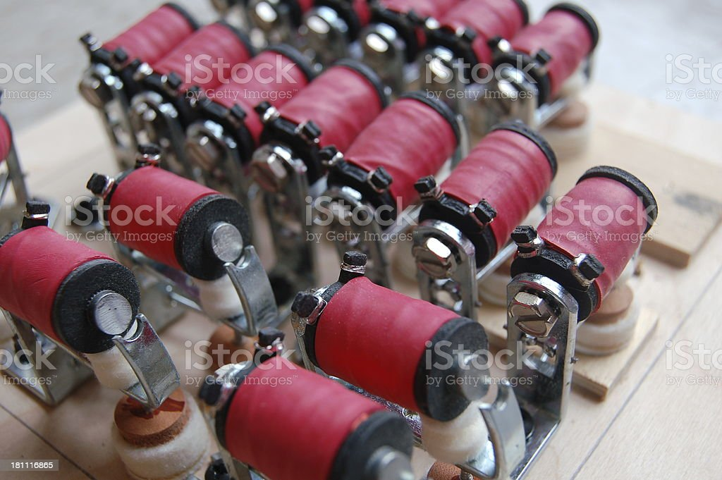 Top View of Magnet Series stock photo