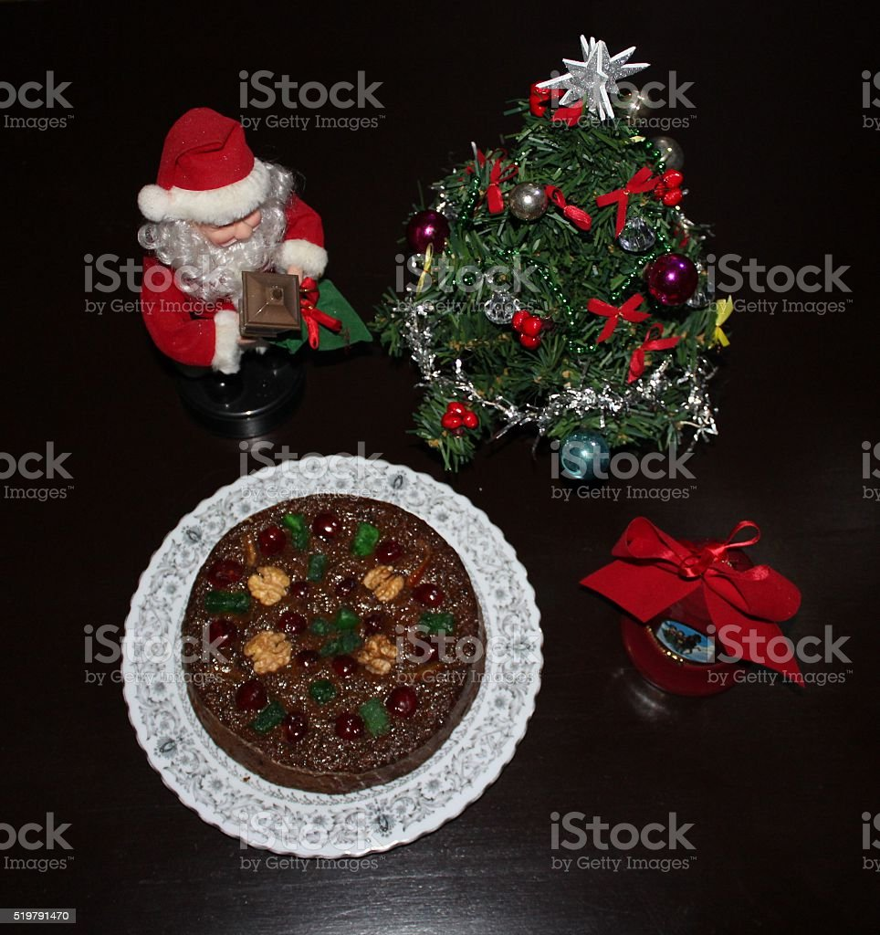 Top view of my Cake stock photo