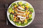Top view of Orange Walnut Chicken Salad