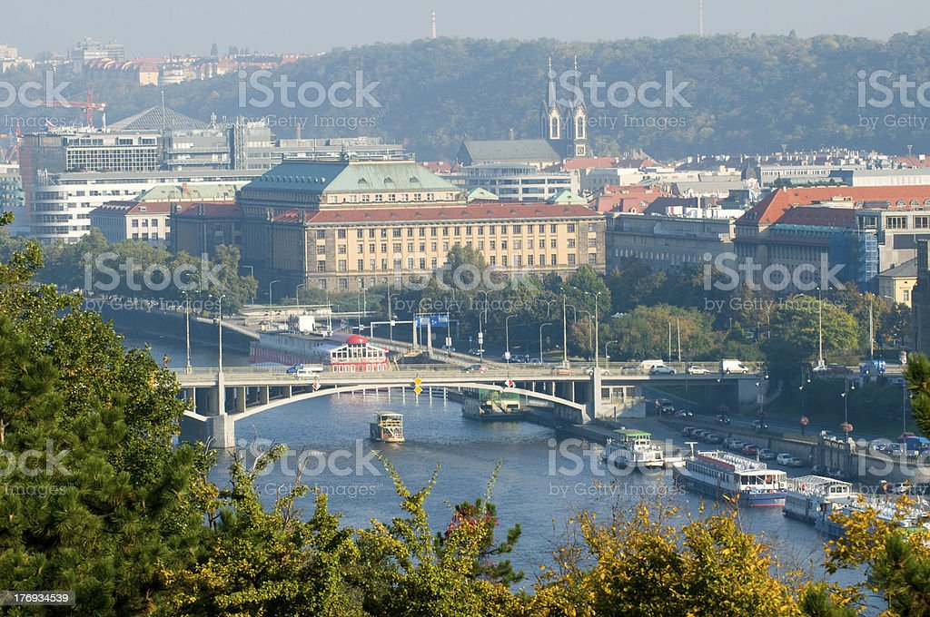 top view of Prague royalty-free stock photo