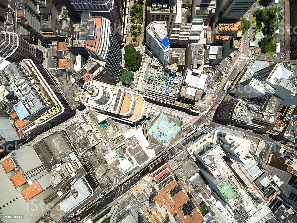 Top view of Sao Paulo, Brazil stock photo