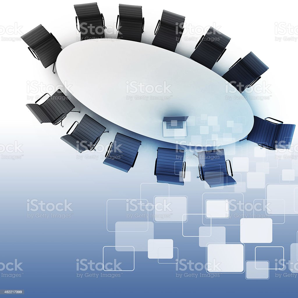 Top view of successful business table for meeting as concept royalty-free stock photo