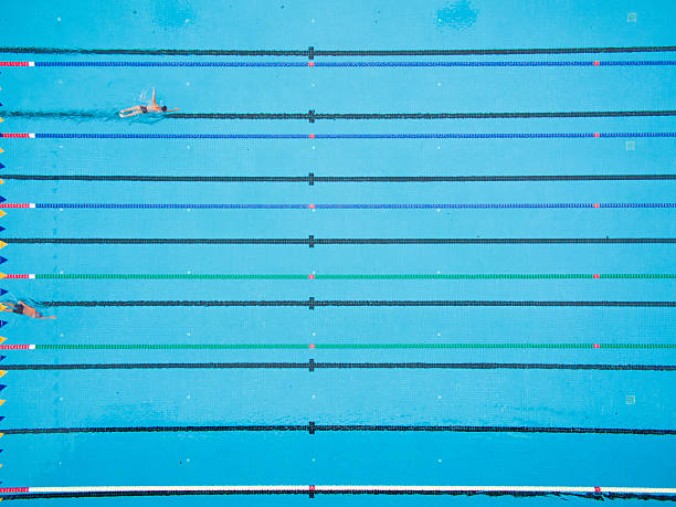 olympic swimming pool top view swim lanes overhead pictures images and stock photos istock