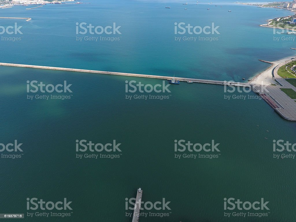 Top view of the bay Tsemess stock photo