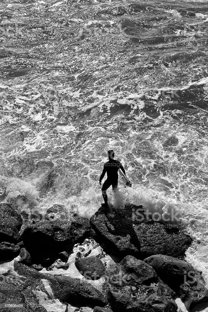 Top view of the ocean royalty-free stock photo
