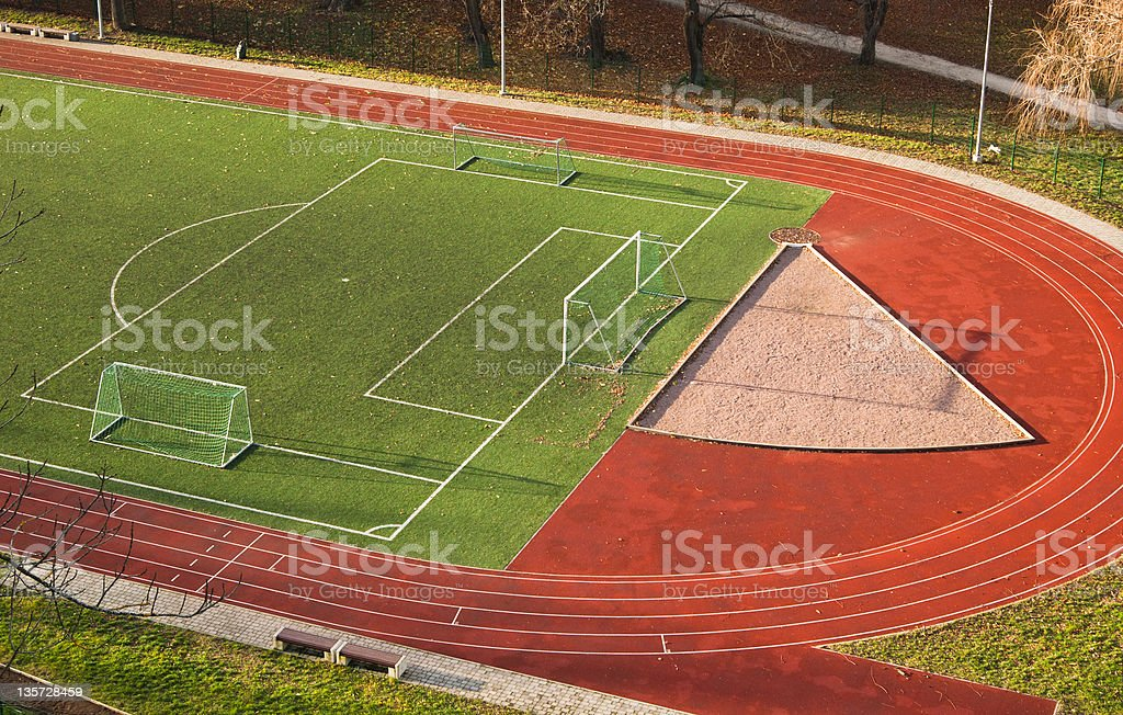 top view of the stadium royalty-free stock photo