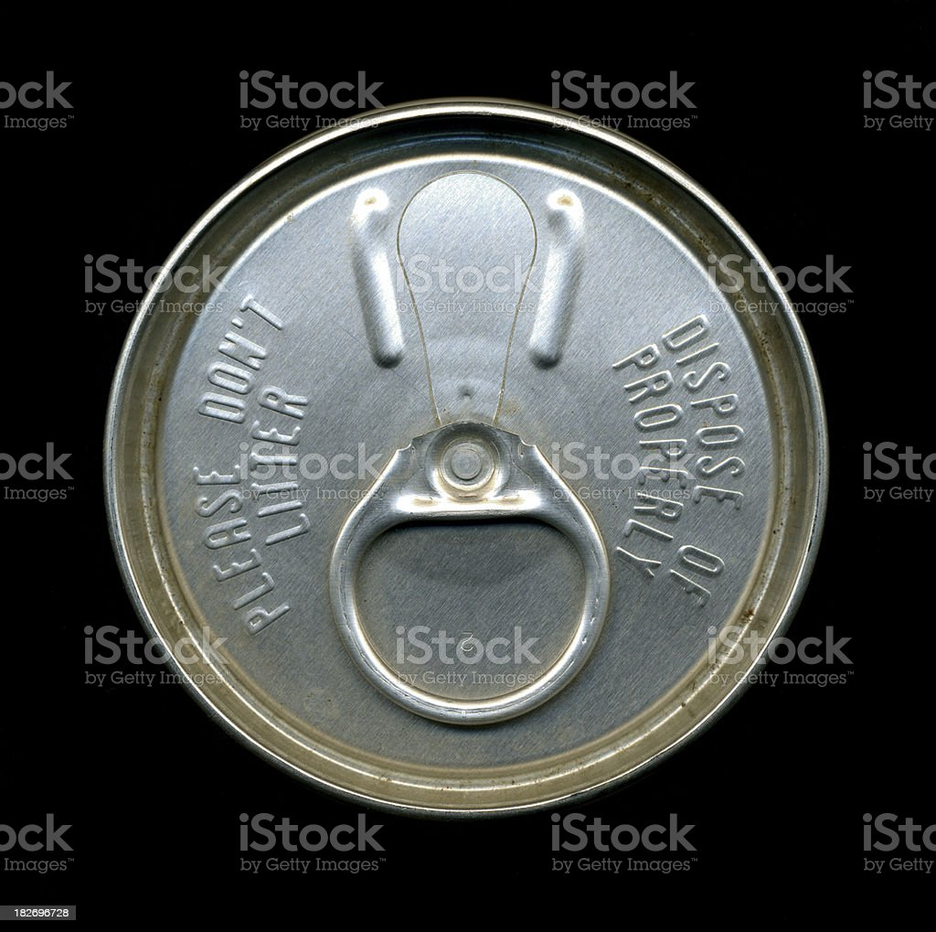 Top view of vintage beer can stock photo