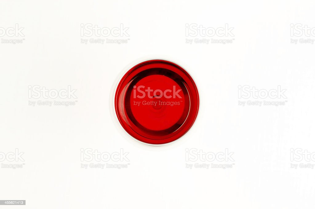 Top view of wine glass filled with red wine royalty-free stock photo