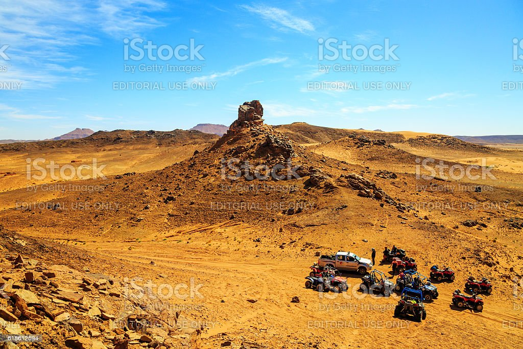 top view on group of off-road stock photo