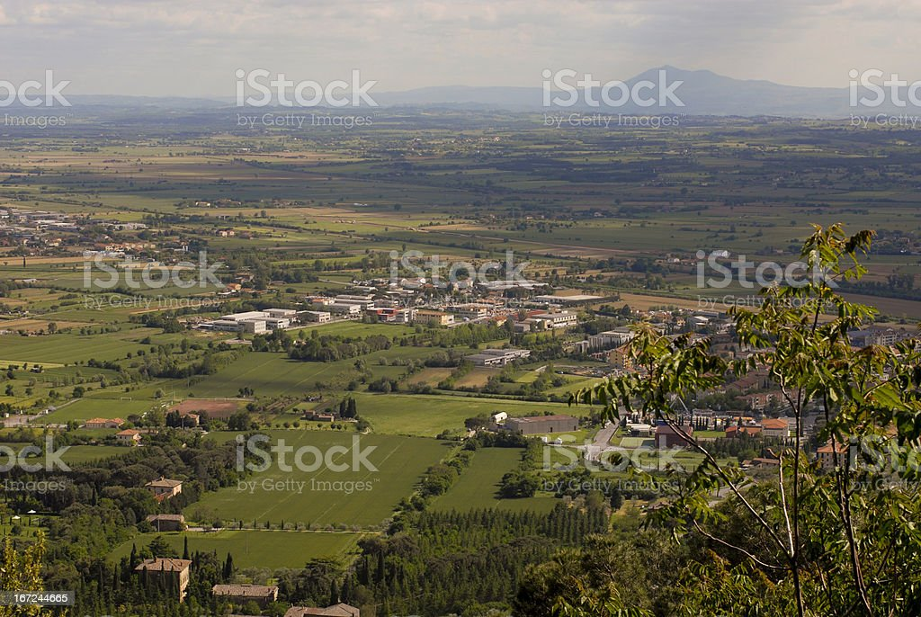 Top view to the green city royalty-free stock photo