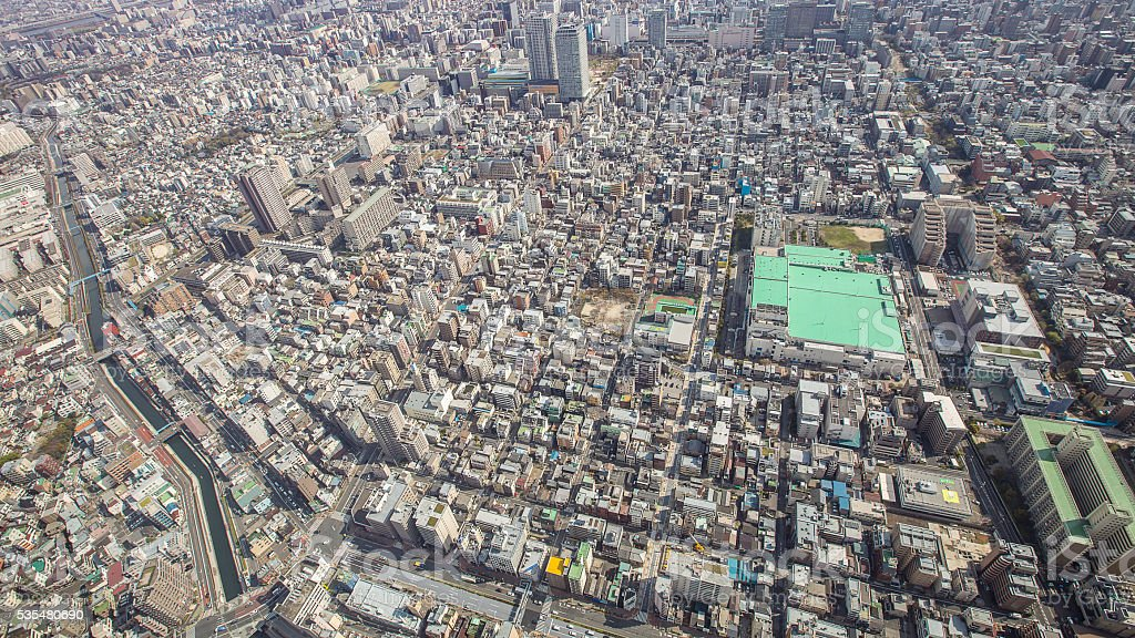 Top view Tokyo (from Tokyo skytree), high view stock photo