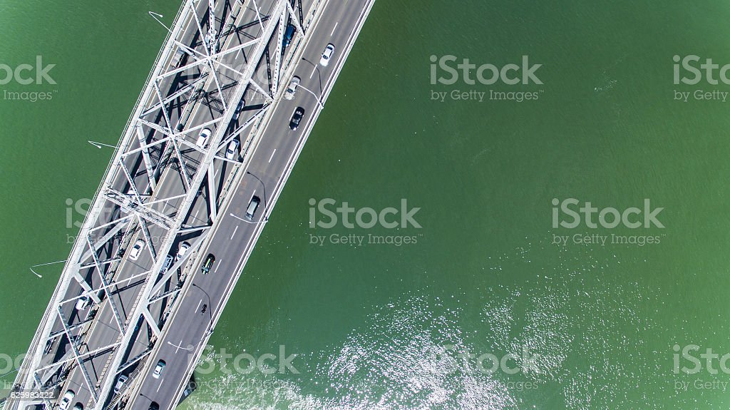 Top view Waitemata Harbour. stock photo