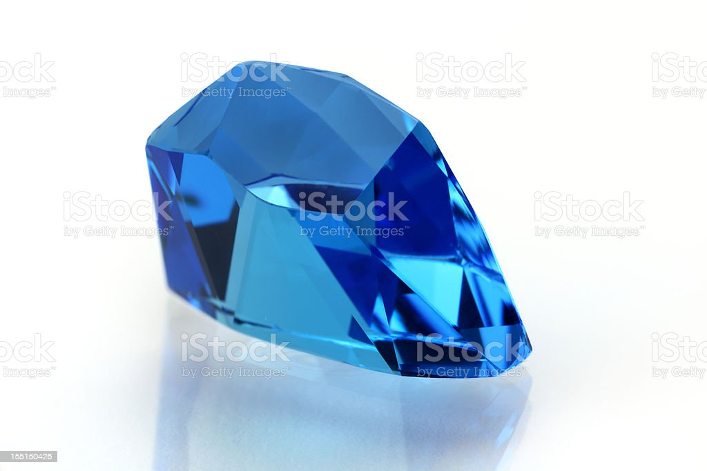 Topaz or Aquamarine in Free Form stock photo