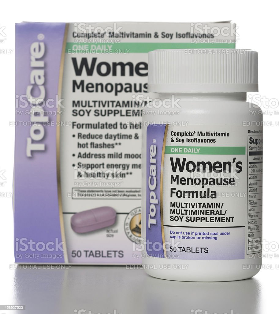 TopCare Women's Menopause Formula Multivitamin Multimineral Soy Supplement royalty-free stock photo