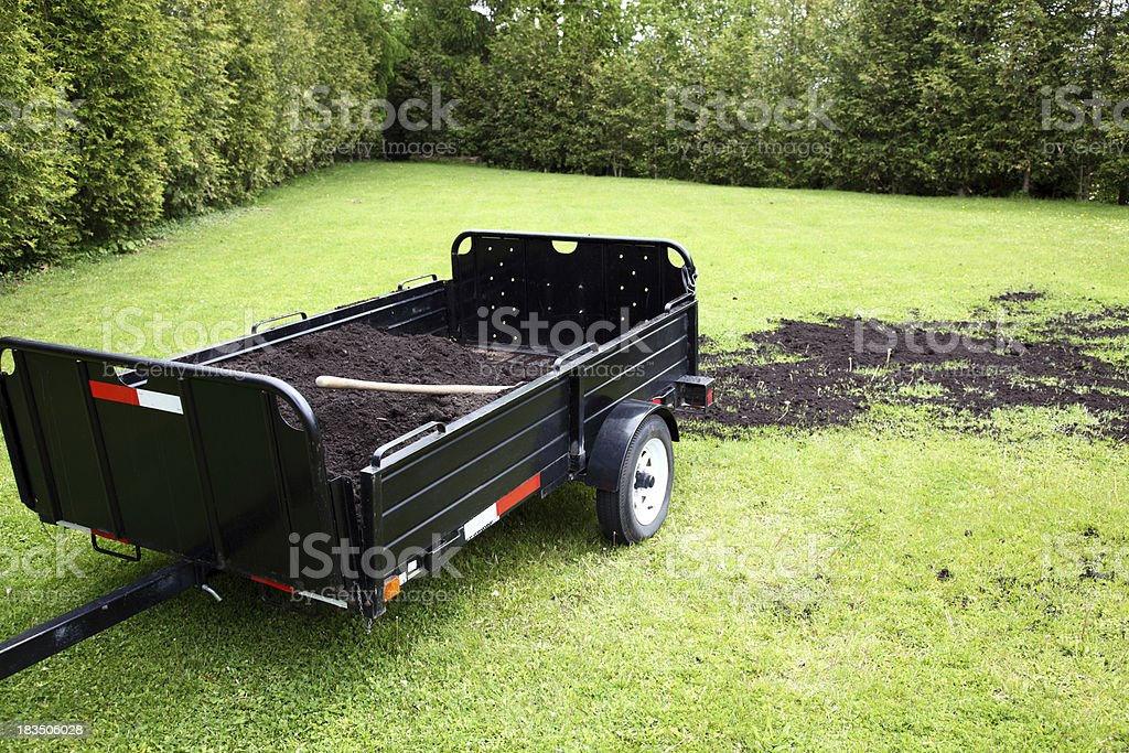 Topdressing Lawn royalty-free stock photo