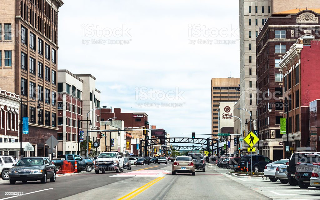 Topeka downtown, Kansas. stock photo
