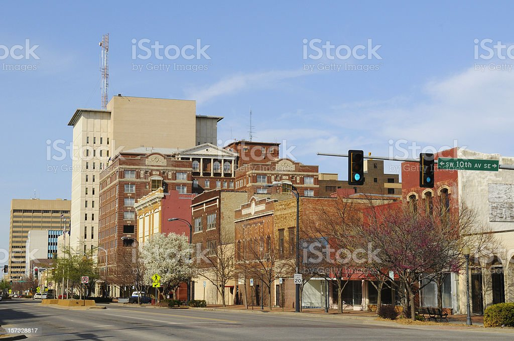 Topeka, Kansas, downtown view stock photo