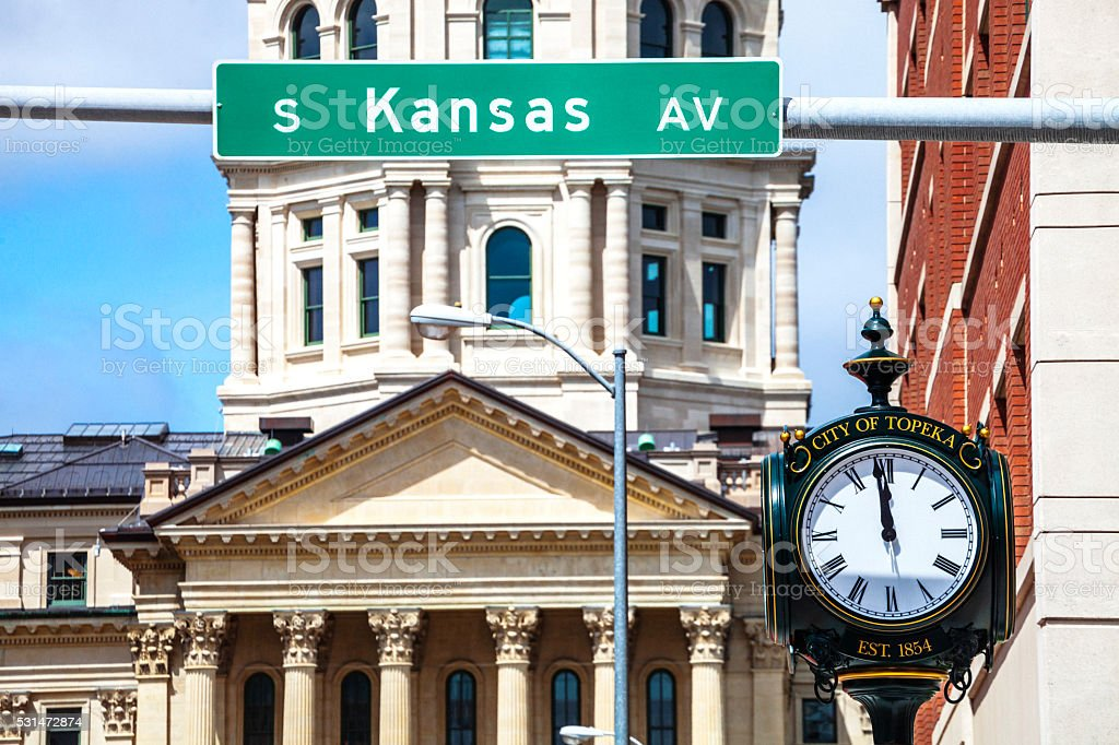 Topeka, Kansas. stock photo