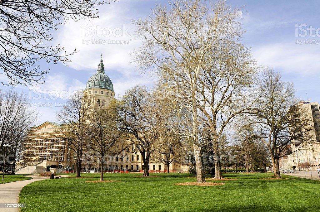 Topeka Kansas State Capitol royalty-free stock photo