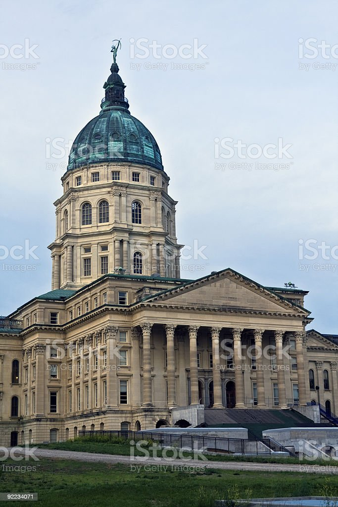 Topeka, Kansas - State Capitol royalty-free stock photo