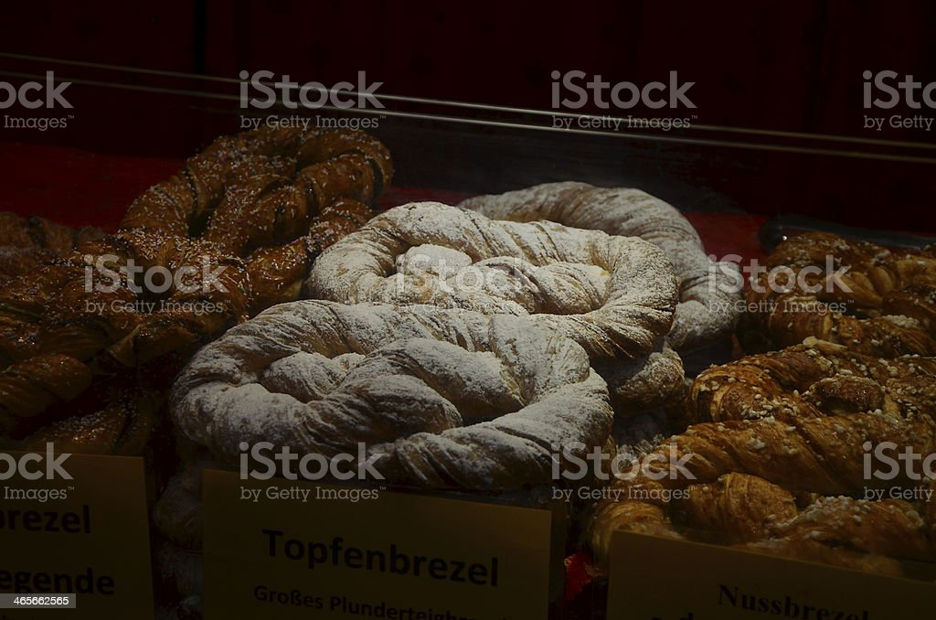 Topfenbrezel - Curdpretzel stock photo