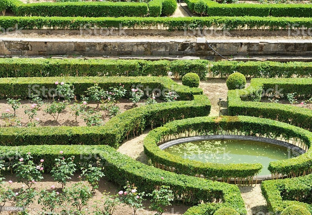 Topiary garden royalty-free stock photo