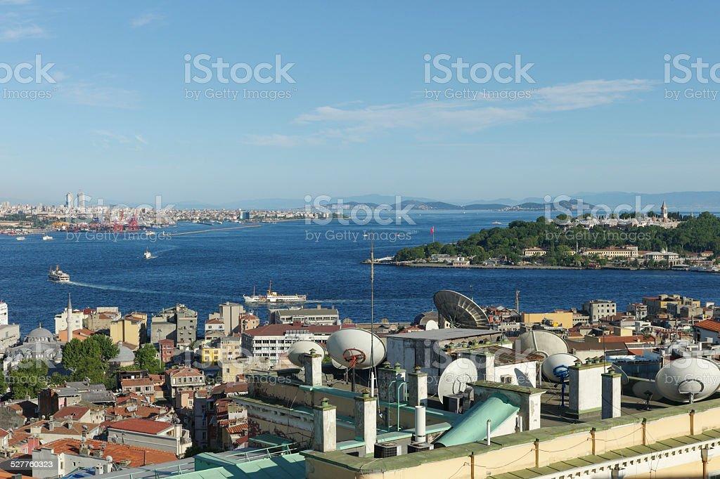 topkapi blue mosque and hagia sophia at istanbul turkey stock photo